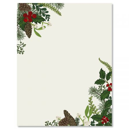 Abundant Holiday Christmas Letter Papers