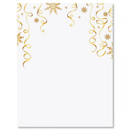 Gilded Ribbons Christmas Letter Papers