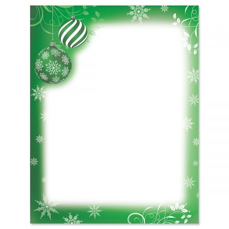 Flourish and Ornaments Christmas Letter Papers