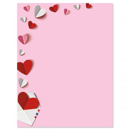Paper Hearts Valentine S Day Letter Papers Current Catalog
