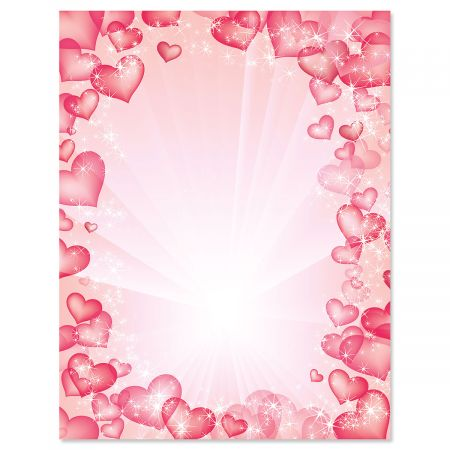 Celestial Hearts Valentine's Day Letter Papers