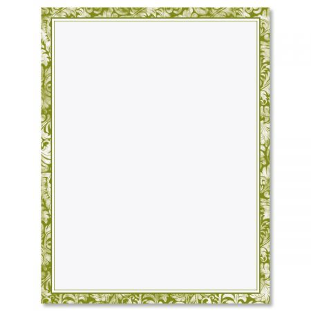 Green Alluring Border Letter Papers