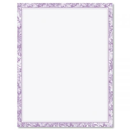 Purple Alluring Border Easter Letter Papers