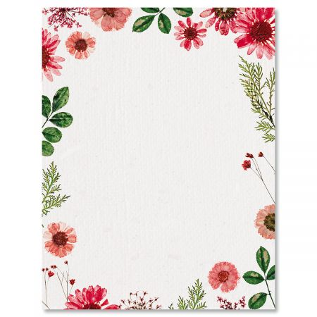 Sun Dried Florals Easter Letter Papers