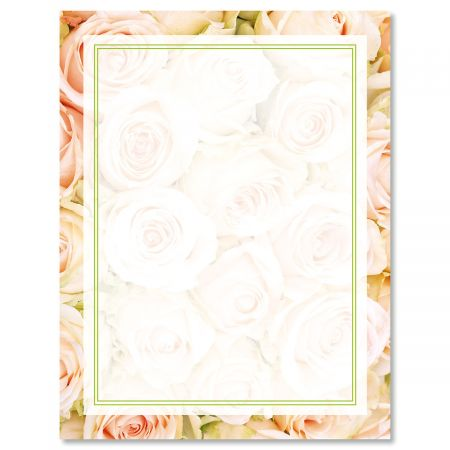 Pale Pink Roses Letter Papers