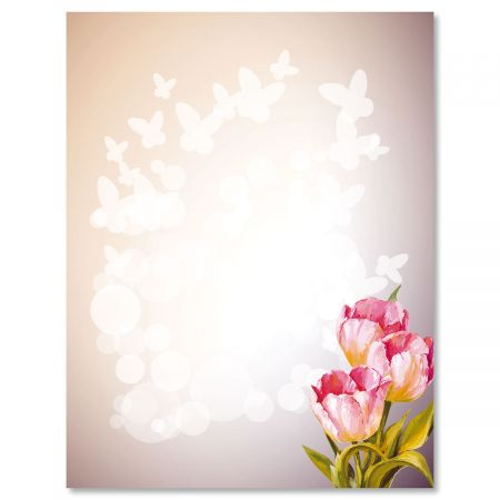 Tulips Easter Letter Papers