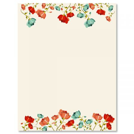 Poppies Easter Letter Papers