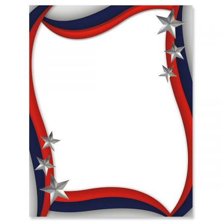 Spangled Stars Patriotic Letter Papers
