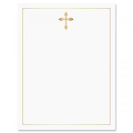 Golden Cross 2 Faith Letter Papers