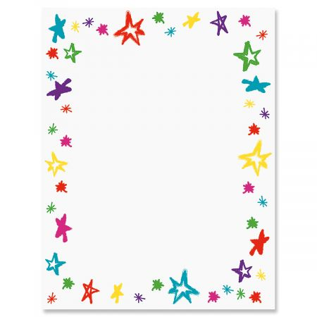 Handdrawn Stars Letter Papers