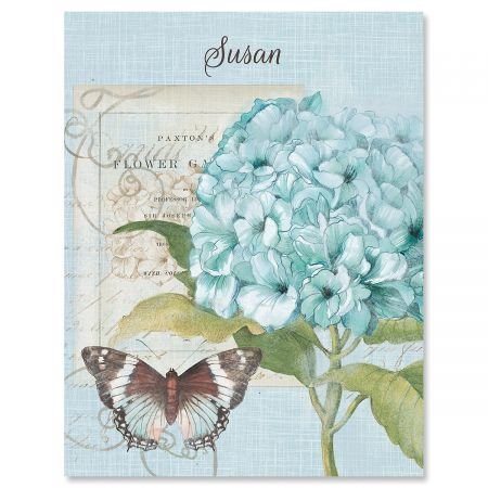 Hydrangea Nature Personalized Note Cards