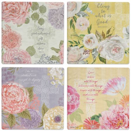 Faithful Florals Ceramic Coasters
