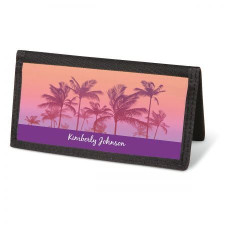 Tropical Palms Checkbook Covers