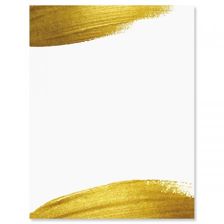 Gold Brush Letter Papers