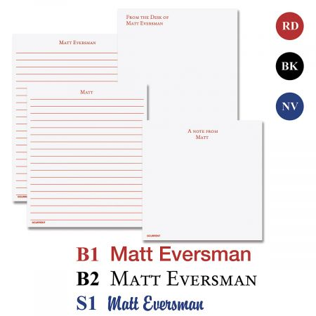 Primary Personalized Personalized Notepad Set