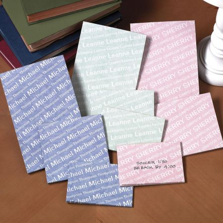 Your Name Personalized Notepad Set