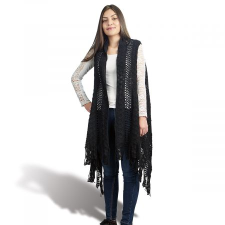 Black Knit Sweater Vest