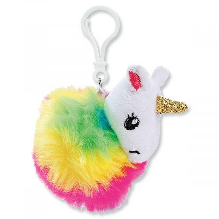 Unicorn Pom Pom Key Chain