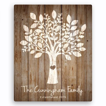 Our Family Tree Personalized Canvas