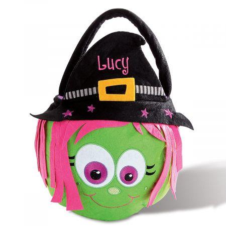 Personalized Halloween Witch Treat Basket