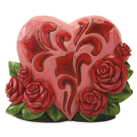 Mini Heart With Roses by Jim Shore®