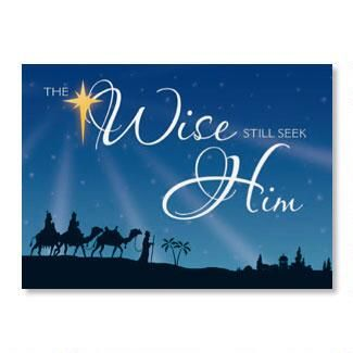 Three Wise Men Nonpersonalized Christmas Cards - Set of 72