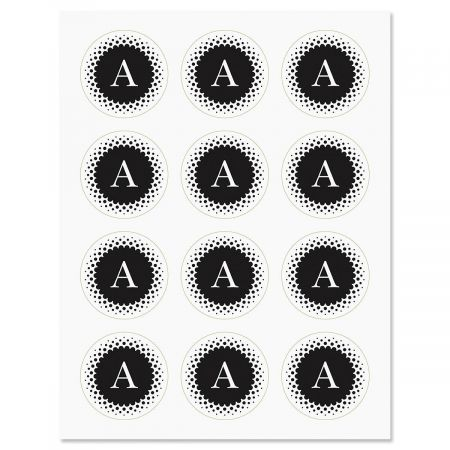 Black & White Monogram Stickers