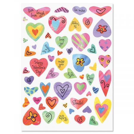 Colorful Heart Stickers - BOGO