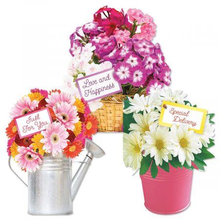 Diecut Stand-Up Floral Valentines