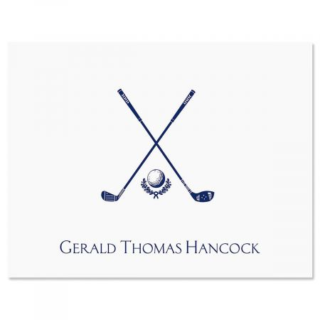 Golf Personalized Note Cards