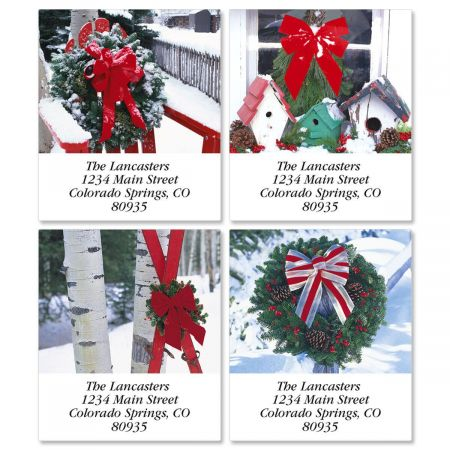 Winter Scene Address Labels  (4 designs)