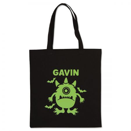 Personalized Monster Glow-in-the-Dark Halloween Treat Bag