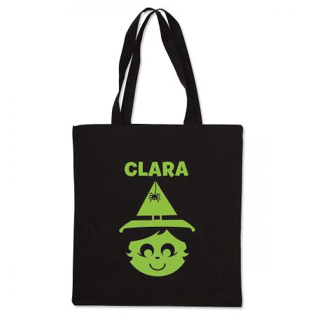 Personalized Witch Glow-in-the-Dark Halloween Treat Bag