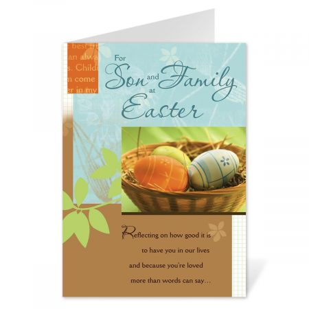 To Son and Family Easter Card