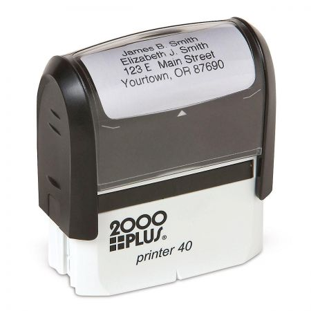 Standard Self-Inking Address Stamp - Black Ink