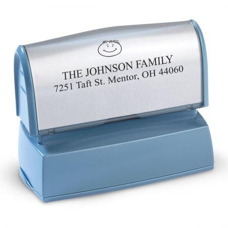 Happy Family Pre-Inking Address Stamper