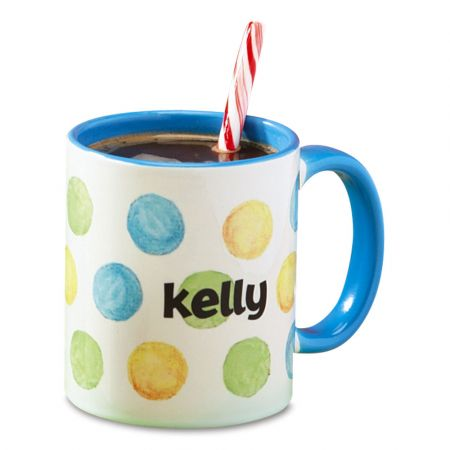 Dots Name Personalized Mug