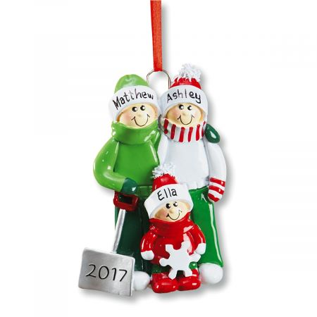 Personalized Holiday Snow Shovel Christmas Ornament