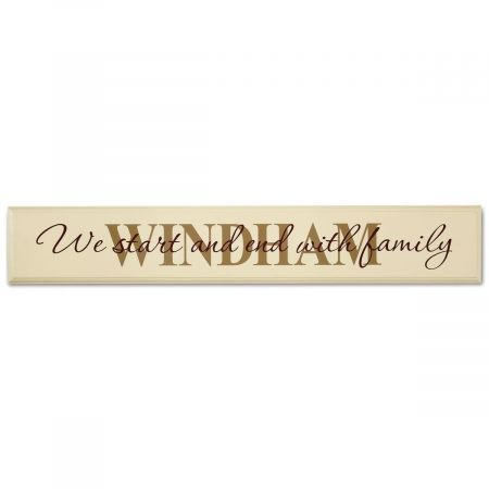 Family Wood Plaque