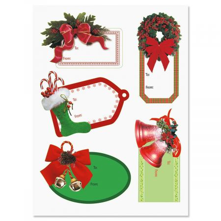 Christmas Diecut Sticker To/From Labels - BOGO