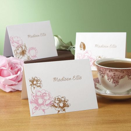 Rose Personalized Note Cards  (3 Designs)