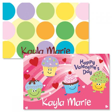 Cupcakes Valentine Personalized Kid's Placemat