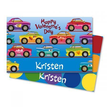 Race Cars Valentine Placemats