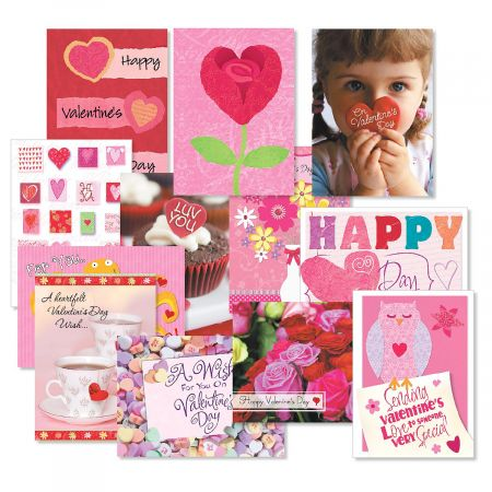Valentine's Day Greeting Cards Value pack