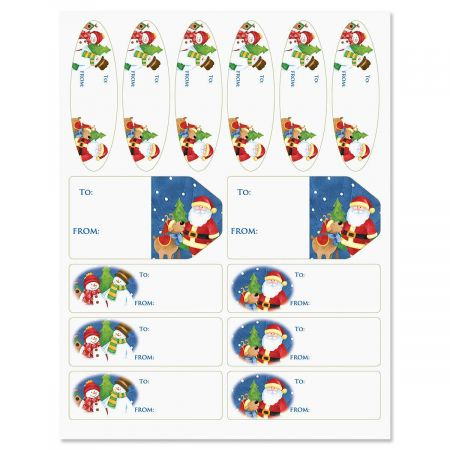 Winter Snowpals Gift Wrap To/From Labels