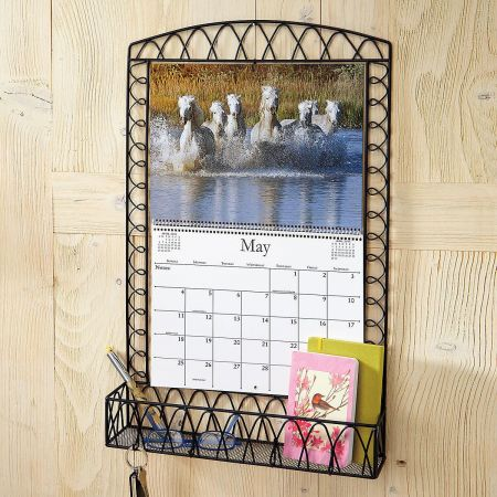 Black Wire Metal Calendar Holder