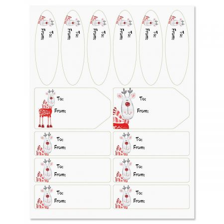 Cute Christmas Reindeer Gift Labels