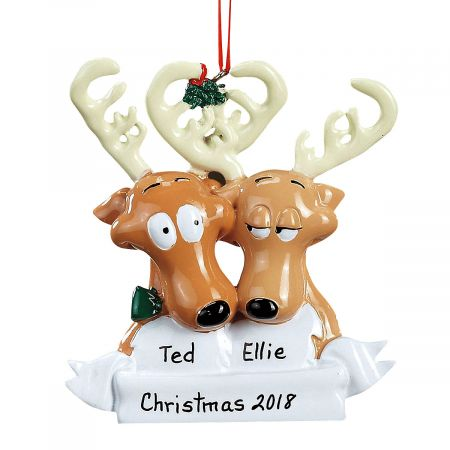Reindeer Family Personalized Christmas Ornaments