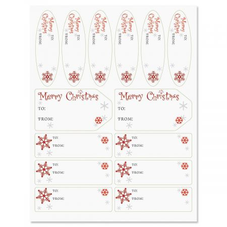 Merry Christmas Script Labels