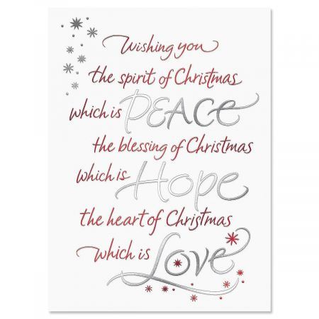 Christmas Wish Personalized Christmas Cards - Set of 56
